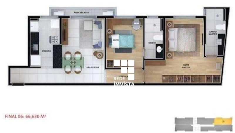 Apartamento com 2 dormitórios à venda, 66 m² por R$ 1.125.792,00 - Funcionários - Belo Horizonte/MG Foto 16
