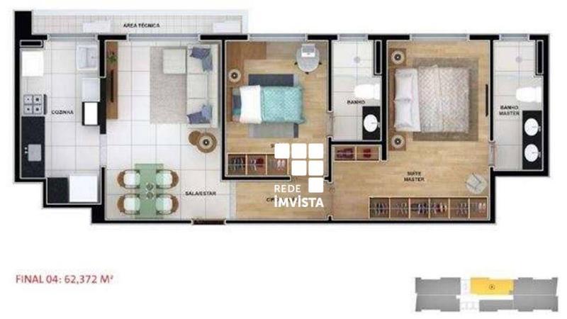 Apartamento com 2 dormitórios à venda, 62 m² por R$ 1.100.910,00 - Funcionários - Belo Horizonte/MG Foto 14