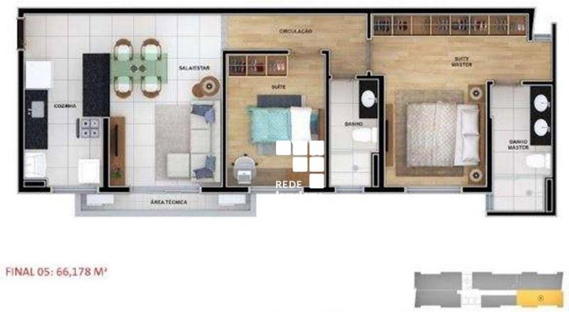 Apartamento com 2 dormitórios à venda, 62 m² por R$ 1.100.910,00 - Funcionários - Belo Horizonte/MG Foto 15