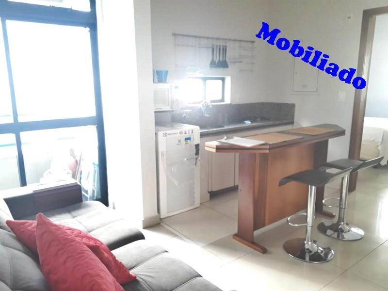 Apartamento mobiliado com  1 quarto, suíte,  varanda Foto 1