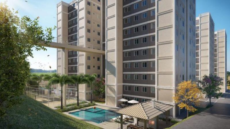 Apartamento na avenida Brasília à venda, 47 m² por R$ 182.000 - São Benedito - Santa Luzia/MG Foto 2