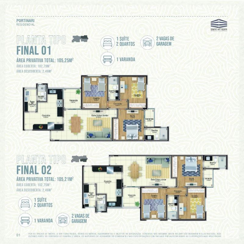LANÇAMENTO!! Apartamentos de 02 e 03 quartos, todos com suíte por 6.000,00 o m², a partir de 380.000,00. Agende já uma visita com o nosso corretor. Foto 4