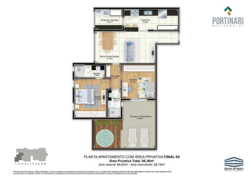 LANÇAMENTO!! Apartamentos de 02 e 03 quartos, todos com suíte por 6.000,00 o m², a partir de 380.000,00. Agende já uma visita com o nosso corretor. Foto 24