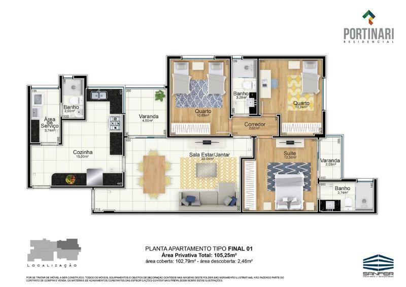 LANÇAMENTO!! Apartamentos de 02 e 03 quartos, todos com suíte por 6.000,00 o m², a partir de 380.000,00. Agende já uma visita com o nosso corretor. Foto 27