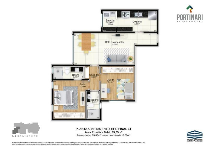 LANÇAMENTO!! Apartamentos de 02 e 03 quartos, todos com suíte por 6.000,00 o m², a partir de 380.000,00. Agende já uma visita com o nosso corretor. Foto 30