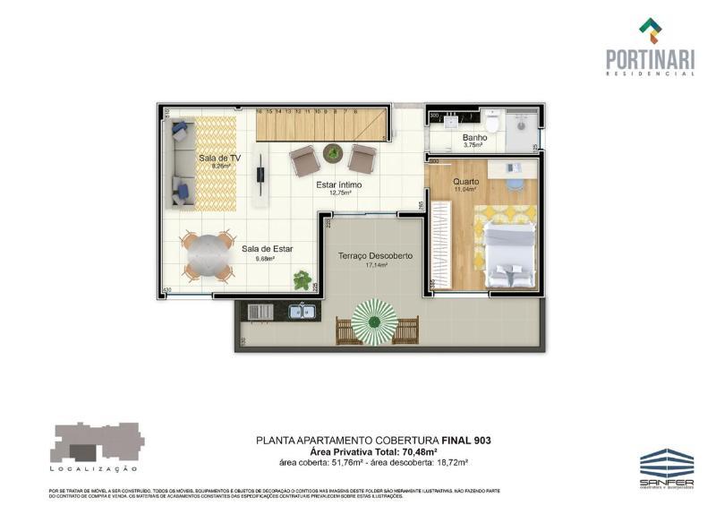 LANÇAMENTO!! Apartamentos de 02 e 03 quartos, todos com suíte por 6.000,00 o m², a partir de 380.000,00. Agende já uma visita com o nosso corretor. Foto 38